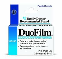 Duofilm Salicylic Acid Wart Remover Liquid 0.33 Oz (9.8ml)