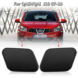 Left-amp-Right-Headlight-Washer-Nozzle-Jet-Cover-Cap-For-Nissan-Qashqai