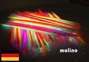 200x-Knicklichter-Leuchtstaebe-Armreifen-Glowstick-Party-Deko-Lichter