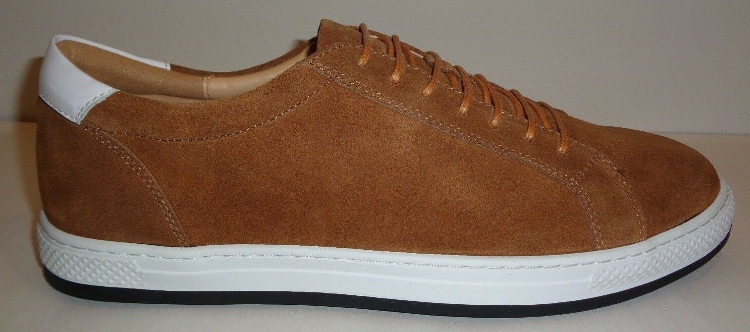English Laundry Size 11 QUEEN Cognac Suede Lace Fashion Sneakers New Mens shoes