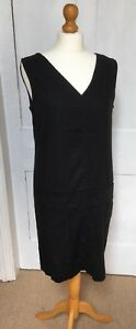 Black Linen Blend Dress New Summer