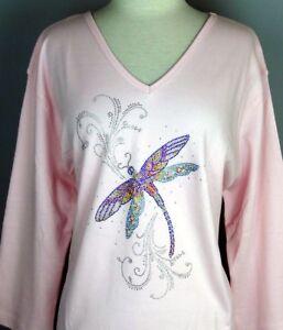 379bd1220b0b8 Image is loading LARGE-Top-Rhinestone-Hand-Embellished-Shiny-Iridescent- Dragonfly-