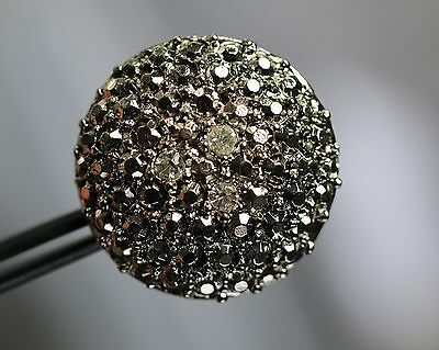 / Sehr attraktiver großer Strassknopf - Markasit-Optik - wohl ab 2010