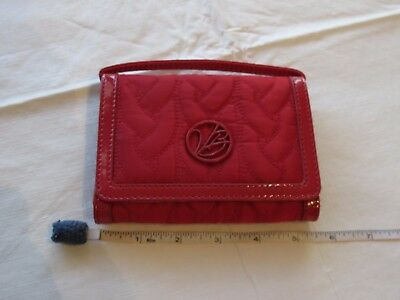 Vera Bradley wallet wristlet red quilted travel credit card coin purse compact