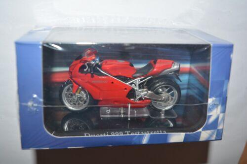 Atlas Collections Modell Motorrad Ducati 999 Testastretta rot //4110109 a.Sockel