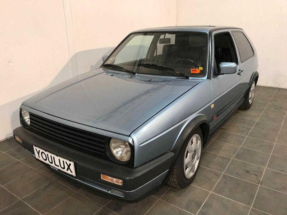 VW Golf II 1,8 GTi 16V Benzin modelår 1986 km 261000 Blåmetal