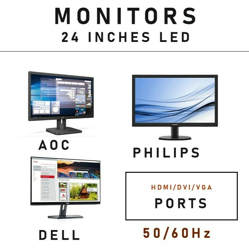 24  Inches computer monitors   from R1800