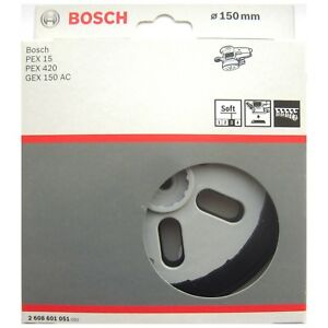 Bosch-SOFT-Sanding-Pad-150mm-Rubber-Base-Plate-PEX-15-420-GEX-150-AC-2608601051