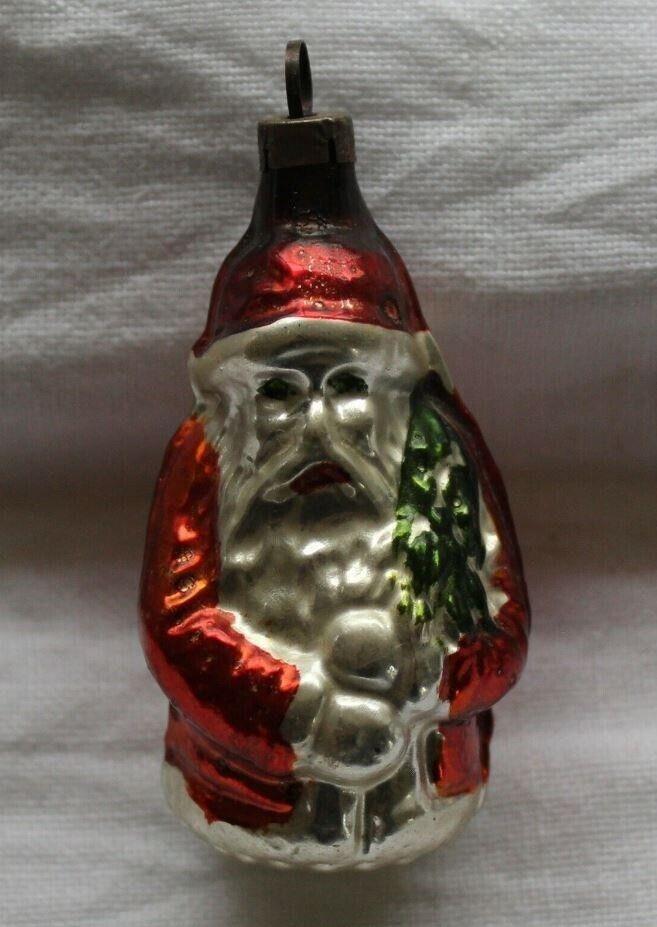 Antik fransk glas julepynt – Julemand