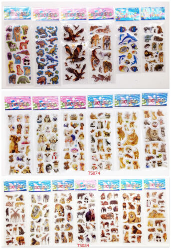 18Sheets Bubble Stickers Lot Animal Kids Children Scrapbooking Paper Crafts Gift