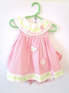 fcaa7da35193 Cradle Togs - Pink Dress with Diaper Cover