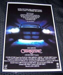 Stephen King John Carpenter Christine 11X17 Movie Poster