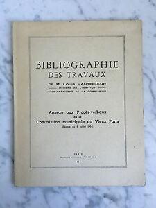 Bibliografía Las Trabajo M. Louis Hautecoeur 1964