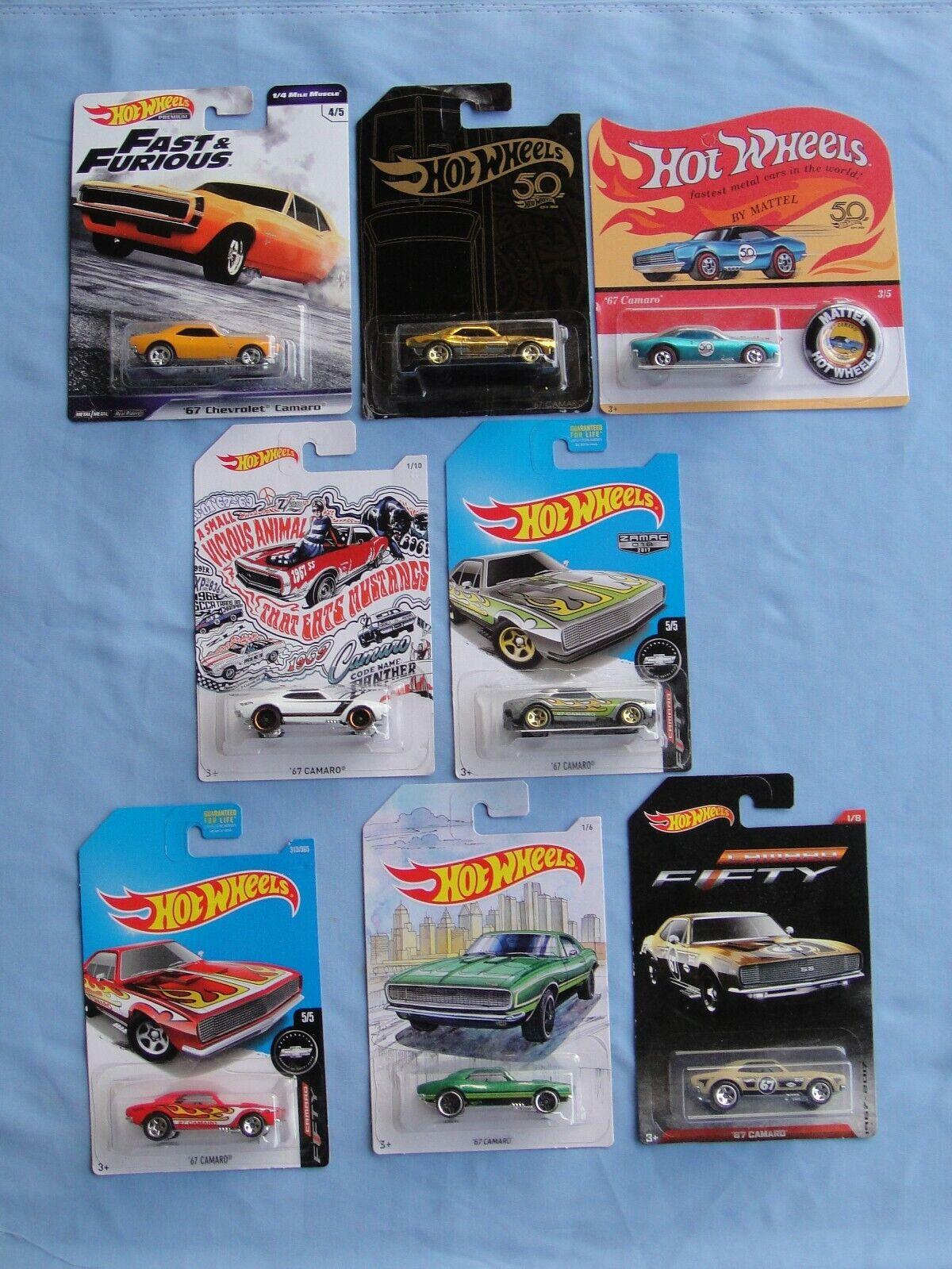 HOT Wtalons'67 CAMARO Walmart ZAMAC 50th 1 4 Muscle Detroit  cinquante Or Lot de 8  branché