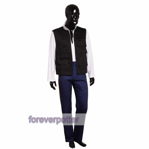 Pants Star Wars Cosplay Fancy Dress A New Hope Han Solo Outfits  Vest Shirt