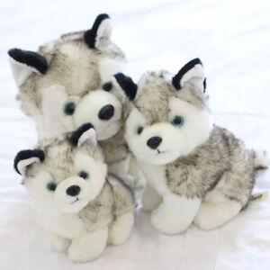 Cadeau-Bebe-Chien-Husky-Animal-En-Peluche-Chiot-Analogique-Jouets-En-Peluche