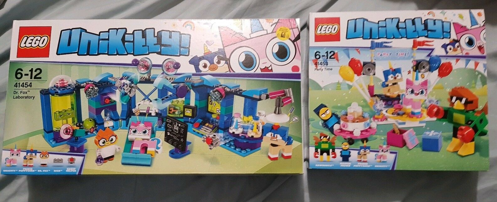Lego Unikitty 41453 Party Time & 41454 Dr Fox's Laboratory - both NEW IN BOX