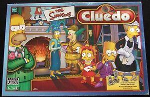 Jeu De Société Cluedo Simpsons - 6 Pions Et Armes En Étain Parker Hasbro