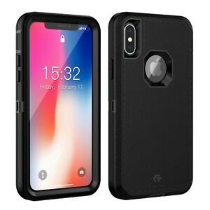 outlet store e436c 5b462 Details about For Apple iPhone Xs X Case Cover with Belt Clip Fits Otterbox  DEFENDER SERIES