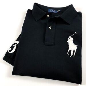 Ralph-Lauren-Polo-Shirt-Homme-BIG-amp-TALL-polo-noir-big-pony-RRP-129