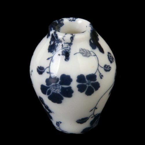 *SALE* Miniature 1:12 Scale Porcelain Vase and Planter in Blue and White