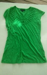 000-Womens-XS-Banana-Republic-Green-Short-Sleeve-Top-Shirt
