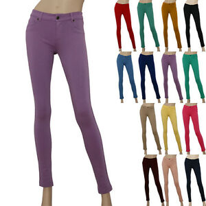 IRON PUPPY Women Pencil Stretch Knit Zipper Jeggings Leggings ...