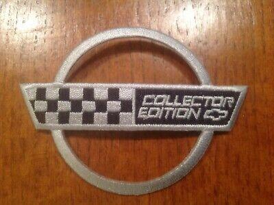 """Corvette C4 1993 40th Anniversary Applique Embroidered Patch 5/"""" Silver"""