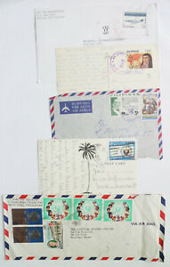 Philippines-Cover-Postcard-Card-5-Lot-Overprint-Surcharge-Stamps