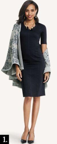 CAbi Claire ponte sheath dress little black dress