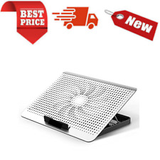 Aluminum Laptop Cooling Pad One Quiet Fan Laptop Stand With 7 Height Adjustable