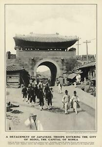 Japanese-Occupation-Seoul-Korea-Korean-Soldiers-Street-Scene-1904-old-print