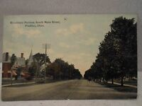 Findlay Oh Ohio,  Residences, south Main St., early postcard-1912