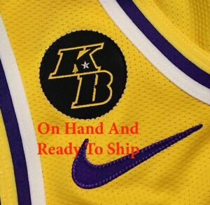 Details about KB Patch Kobe Bryant LA Lakers Basketball Jersey Patch Patch un signed Iron On