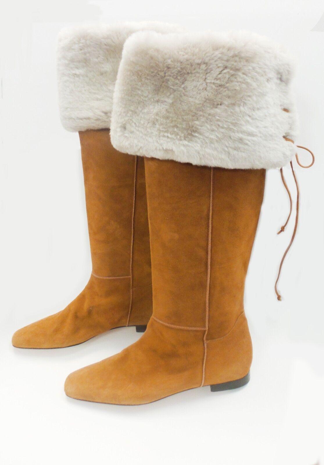 forniamo il meglio Manolo Blahnik   Suede Suede Suede Knee stivali Dimensione EU 39.5  design unico
