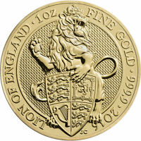 2016 1 oz British Gold Queens Beast Coin (BU)
