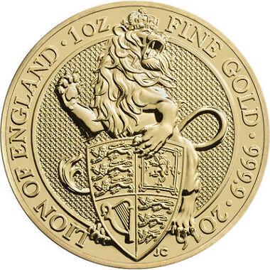 2016 1 oz British Gold Queens Beast Coin