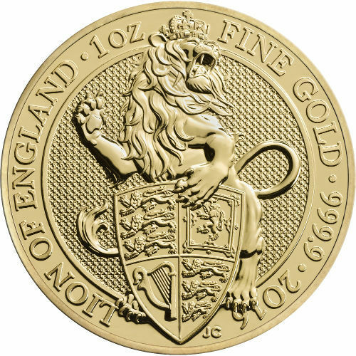 2016 1 oz British Gold Queens Beast Coin
