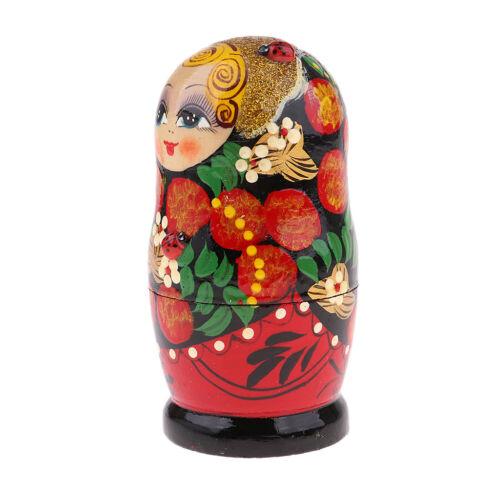 Flower Girl Russian Nesting Doll Babushka Matryoshka Stacking Dolls Set 5PCS