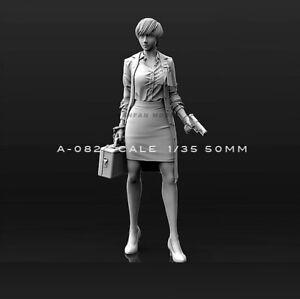 1-35-Figure-Female-FBI-Unassembled-resin-scale-50mm-model
