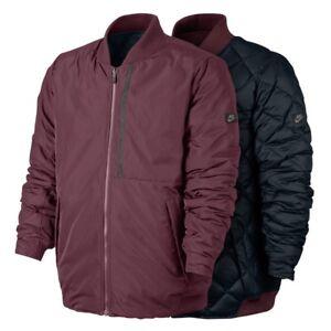 f9785c7f32c4 Das Bild wird geladen Nike-Sportswear-moderne-Herren-Reversible-Bomber-Down- Fill-