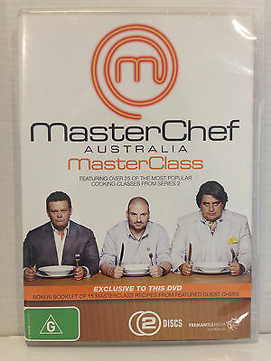MASTERCHEF AUSTRALIA MASTER CLASS~ 2 DISC DVD + RECIPE BOOKLET~ HUGE 400 MINUTES