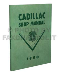 1950 1951 Cadillac Shop Manual CD Deville Series 61 62 75 Fleetwood 60 Special