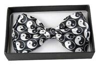 Unisex Tuxedo Classic Bow Tie Pure Neckwear yin Yang Adjustable