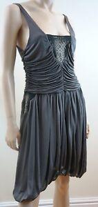 Sass Bide Women S Silver Grey Draped Ruched Evening Cocktail Dress Eu40 Uk12 Ebay
