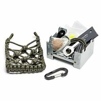 Camping Survival Kit Paracord Bag Backpacking Wood Stove Fire Starter Fishing