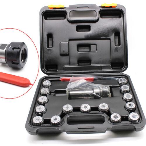 15Tlg 3-20mm Prazision ER32-Spannzangenset Spannzangen Satz MK3 M12 Mit Kasten