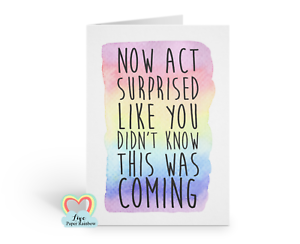 gay reveal I am gay coming out card