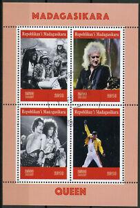 Madagascar 2019 Cto Queen Freddie Mercury 4 V M/s Musique Personnes Célèbres Timbres-afficher Le Titre D'origine