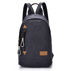 678fe6f672dc Image is loading Mens-Backpack-Casual-Canvas-Outdoor-Travel-Hiking-Rucksack-